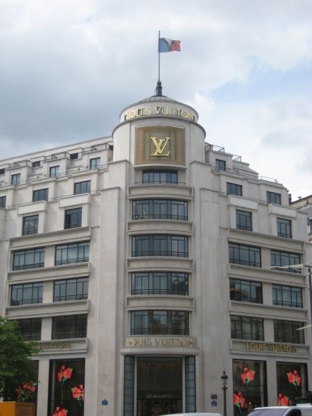 Tienda Louis Vuitton en la Avenida de los Campos Eliseos